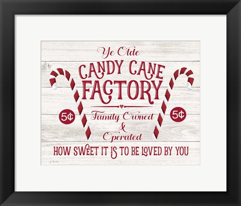 Framed Candy Cane Factory Print
