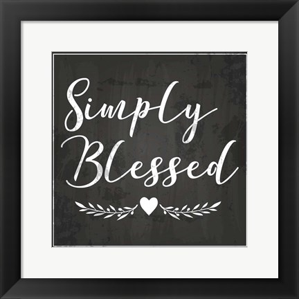 Framed Simply Blessed Print