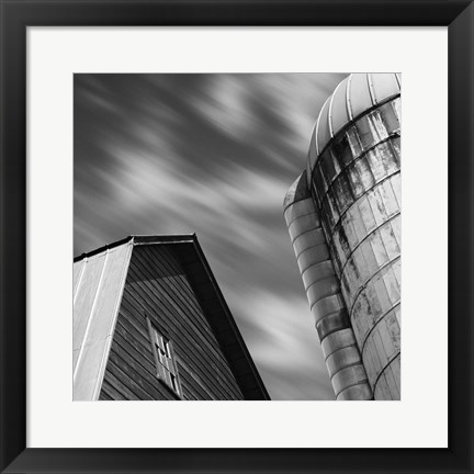 Framed Barn and Silo Print