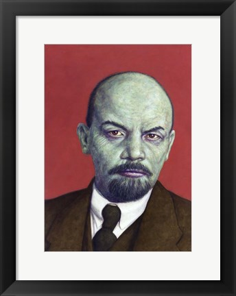 Framed Dead Red - Lenin Print