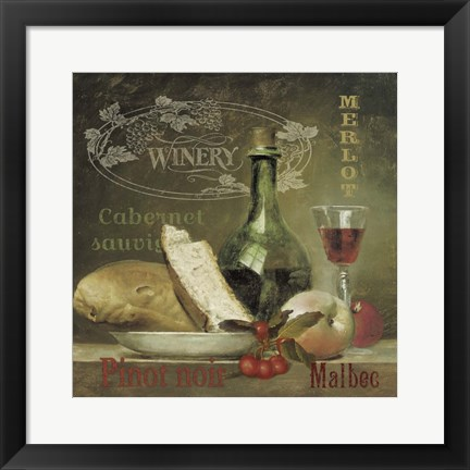 Framed Winery Print