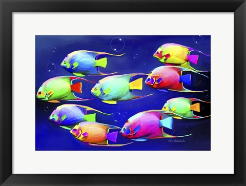 Framed Colorful Fishes 2 Print