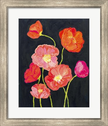 Framed Sunshine Poppies Print