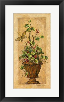 Framed Topiary with Butterfly Print