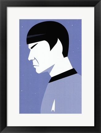 Framed Star Trek - Spock Profile Print