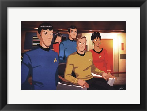 Framed Star Trek - Bridge Crew Print