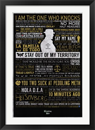 Framed Breaking Bad - Typographic Print