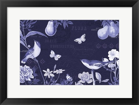 Framed Botanical Blue IV Print