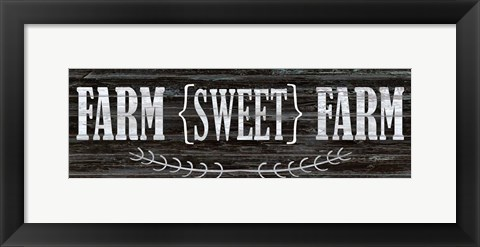 Framed Farm Sweet Farm Print