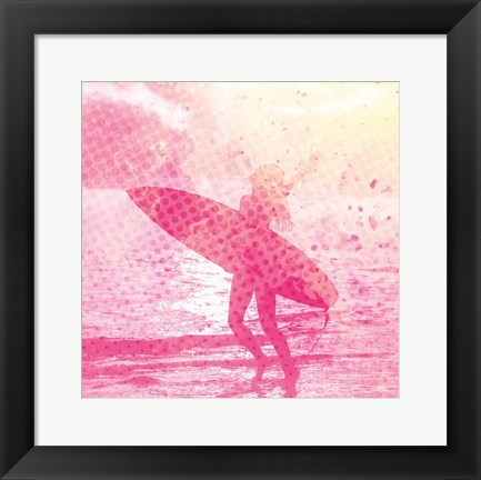 Framed Surfer Girl 2 Print
