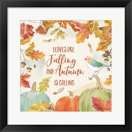 Framed Falling for Fall IV Print
