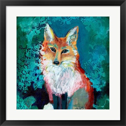 Framed Shy Fox Print