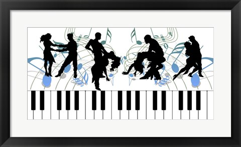 Framed Keyboard Dance Print