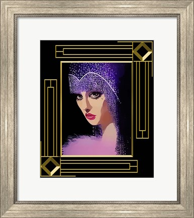 Framed Woman In Purple Hat Frame 3 Print