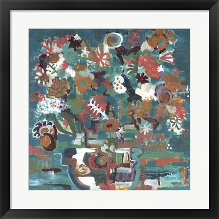 Framed Floral Abstract Print