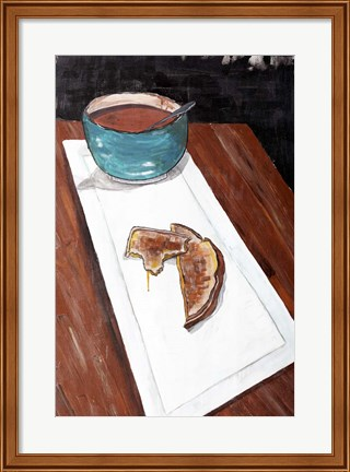 Framed Grilled Cheese And Tomato Soup Print