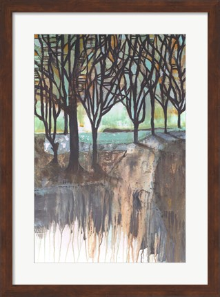 Framed Long Shadows In The Park Print