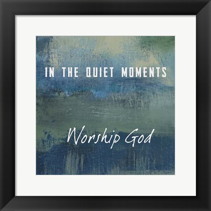 Framed Worship God Print