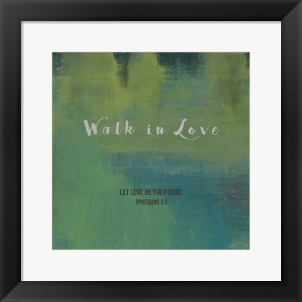 Framed Walk In Love Print