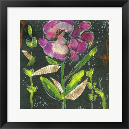 Framed Flower Pot II Print