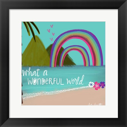 Framed Wonderful World Print