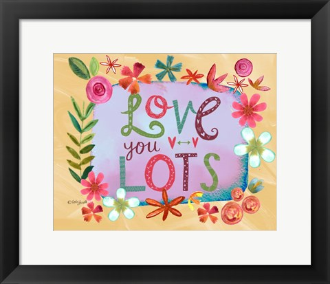 Framed Love You Lots Print