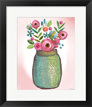 Framed Bouquet Collage Print