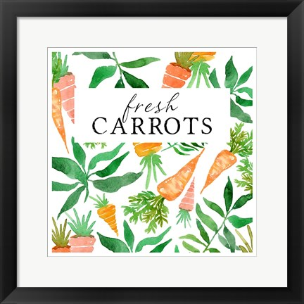 Framed Fresh Carrots Print