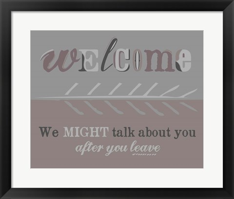 Framed Welcome Print