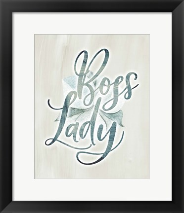 Framed Boss Lady Floral Print