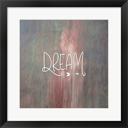 Framed Dream Colorful Print