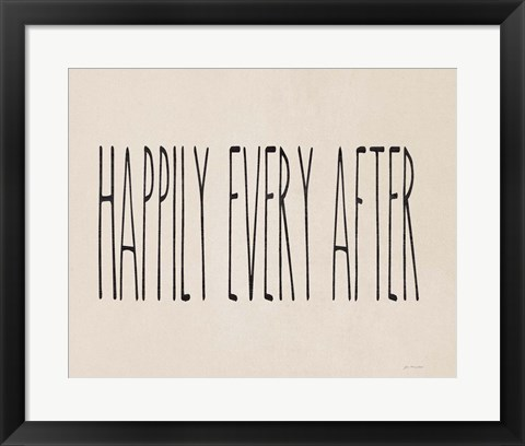 Framed Happily Ever After Print