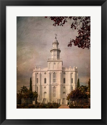 Framed LDS St. George Temple Print