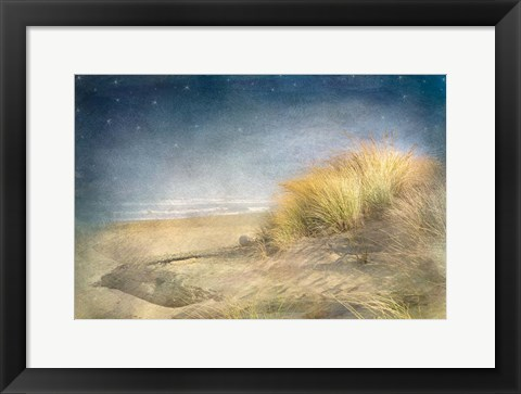 Framed Starry Beach Print
