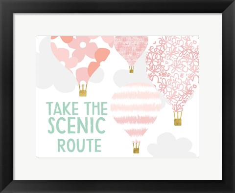 Framed Take the Scenic Route Print