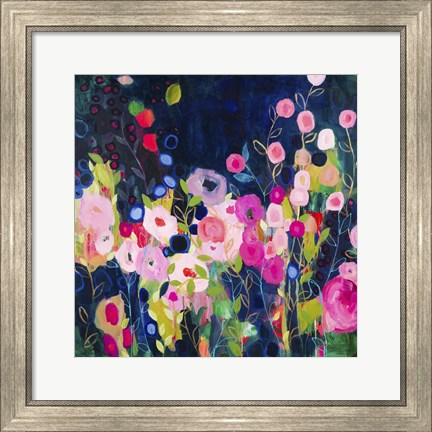 Framed Blue Garden Print