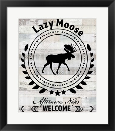 Framed Blue Bear Lodge Sign 1 Print