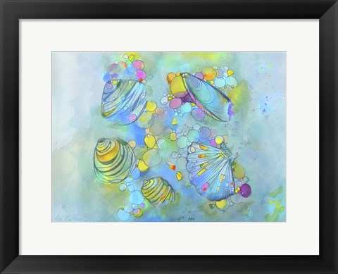 Framed Malacology Mixed Media Print