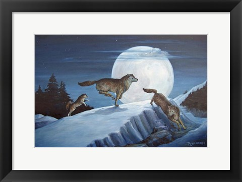 Framed Race The Moon Print