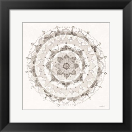 Framed Neutral Mandala Print