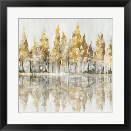 Framed Across the Narrow Lake Print