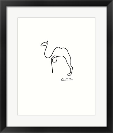 Framed Camel - Embossed Print