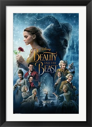 Framed Beauty and the Beast Print