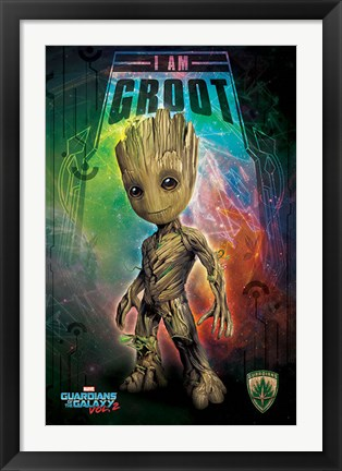 Framed Guardians of the Galaxy - I Am Groot Print