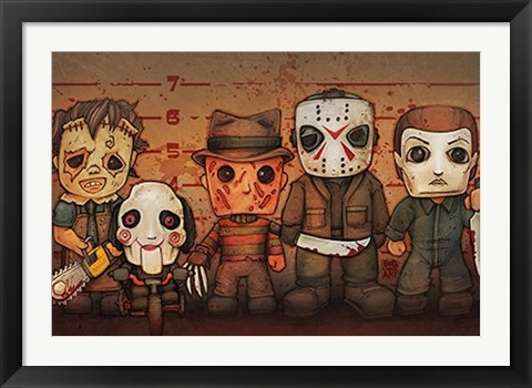 Framed Killer Line-Up Print