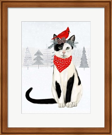 Framed Christmas Cats & Dogs VI Print