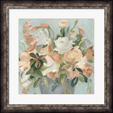 Framed Soft Pastel Bouquet II Print