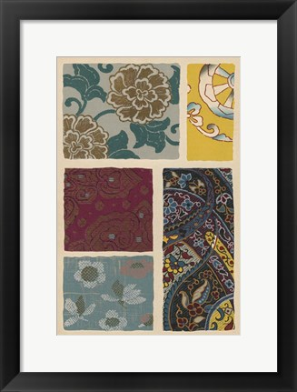 Framed Japanese Textile Design I Print