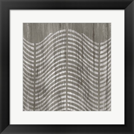 Framed Weathered Wood Patterns X Print