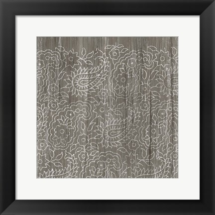 Framed Weathered Wood Patterns XI Print